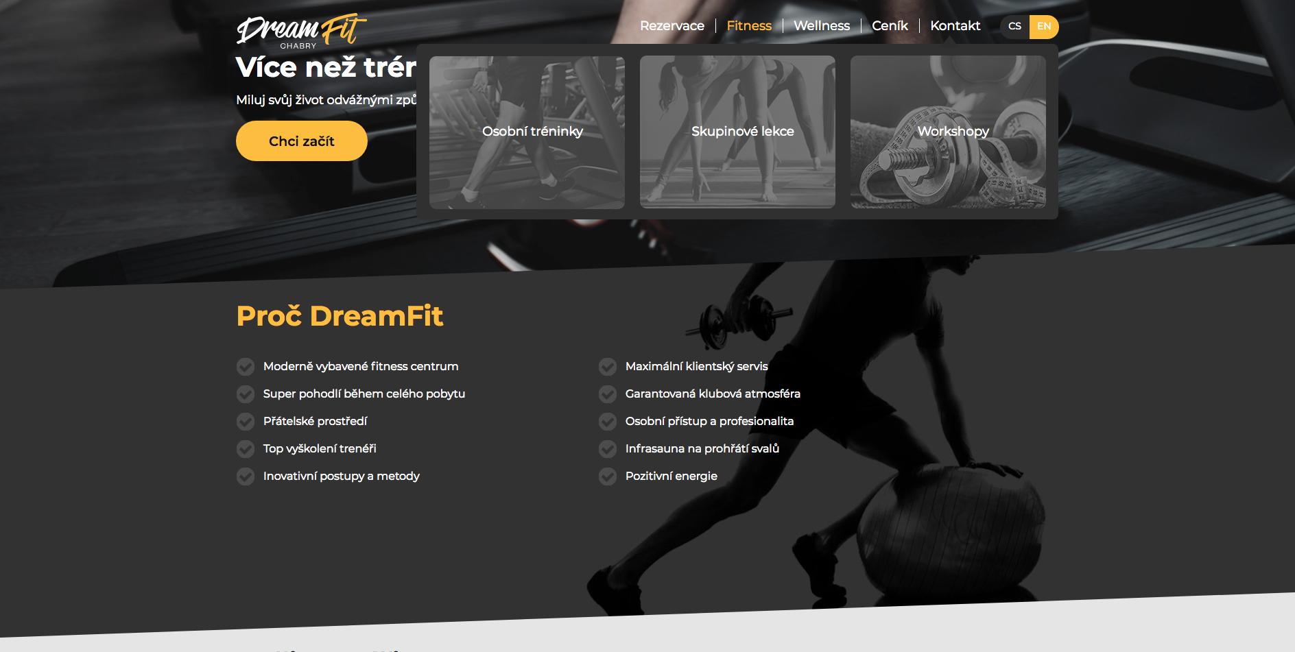 Osobní tréninky Dreamfit cz Love Your Life