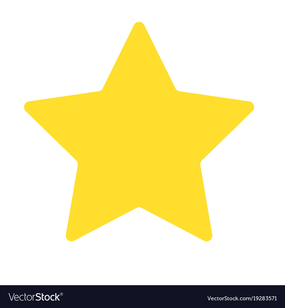 Isolated yellow star icon, ranking mark