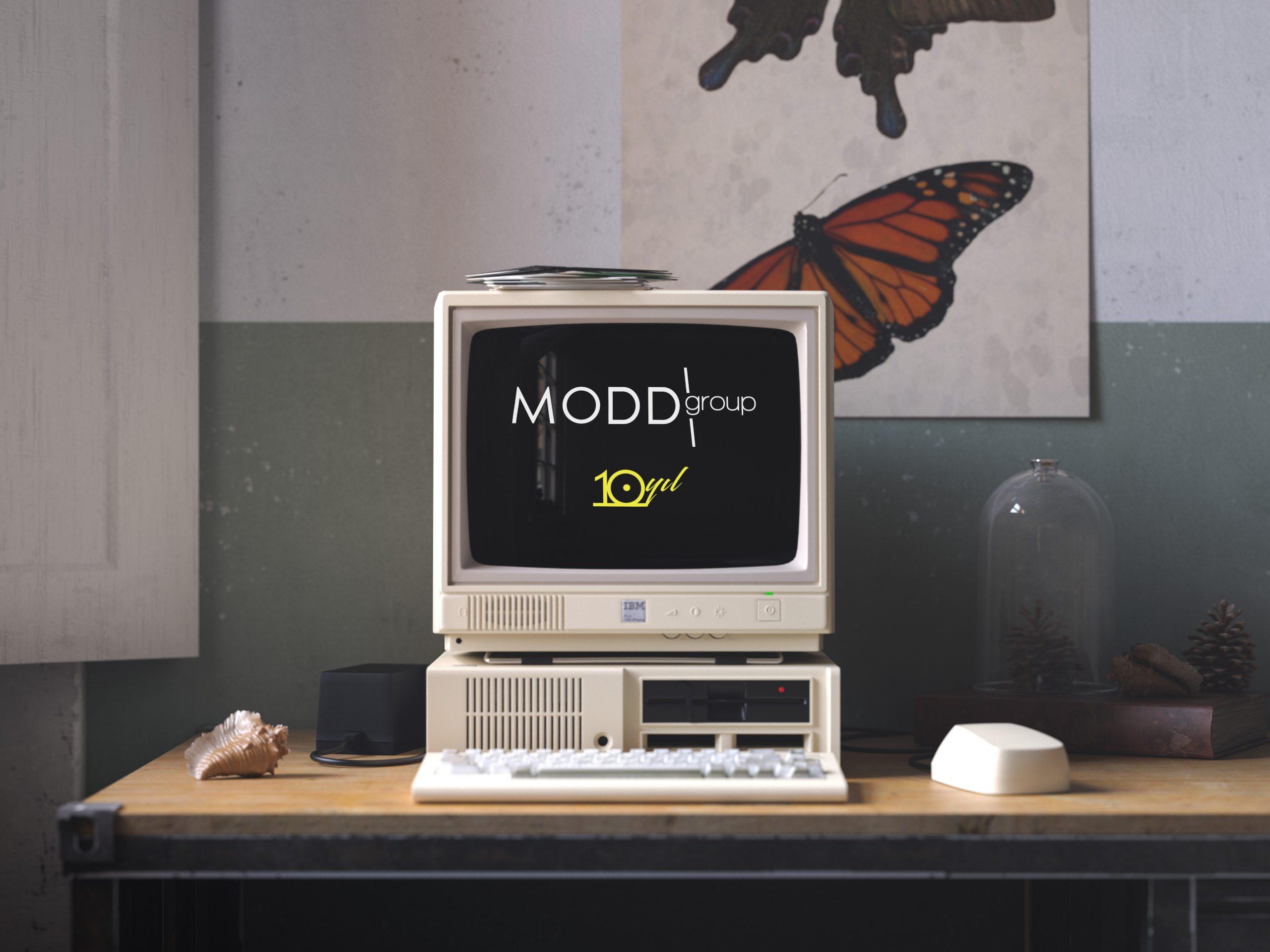Retro IBM Desktop Mockup by Anthony Boyd Graphics