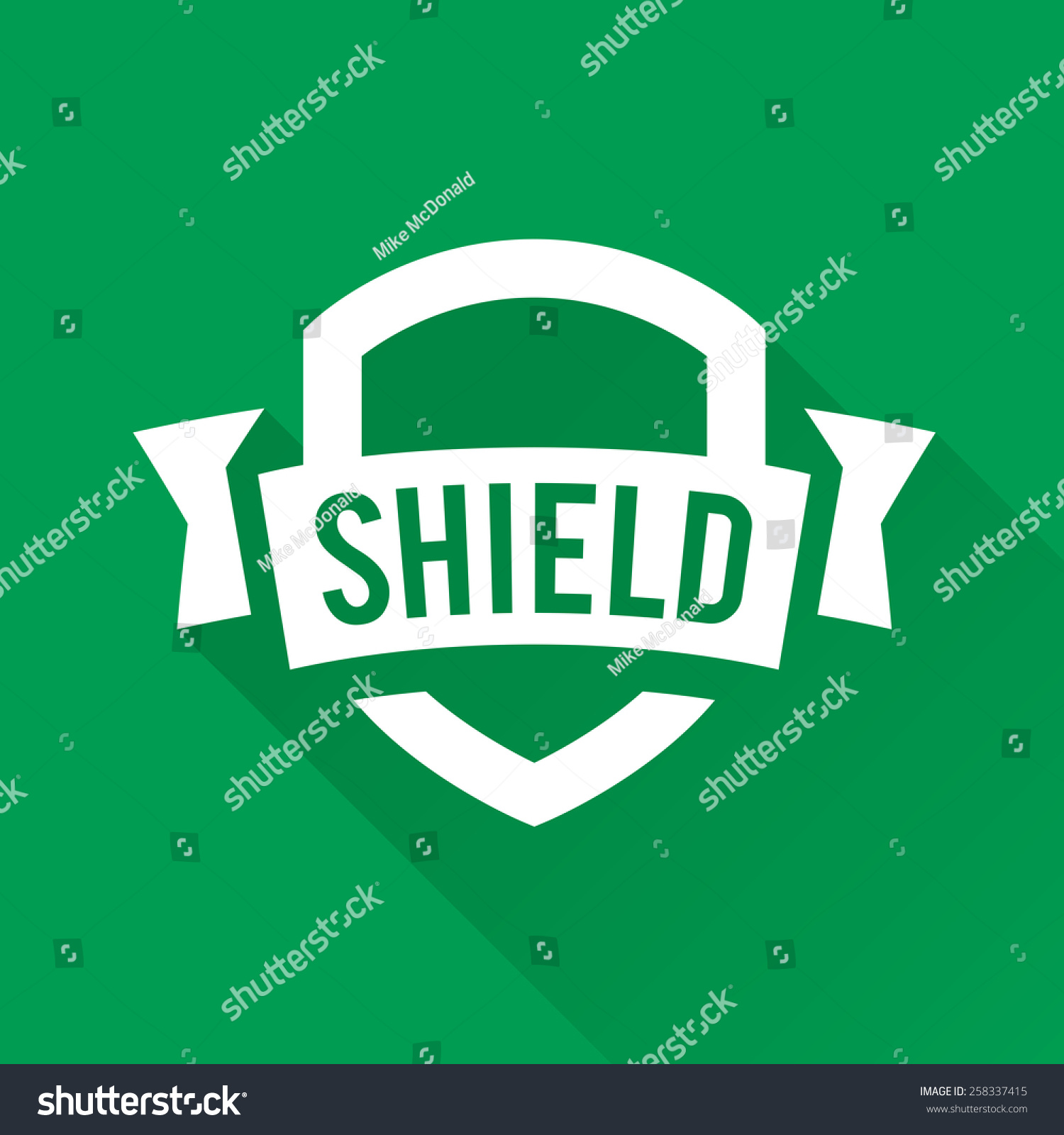 stock-vector-shield-graphic-with-banner-and-text-logo-design-258337415