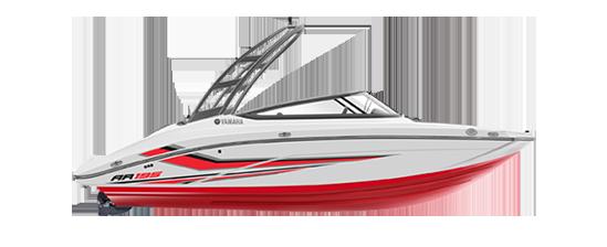 yamaha-boats-2020-ar195-white-red-profile