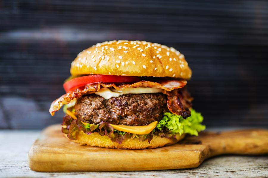 air-fryer-hamburger
