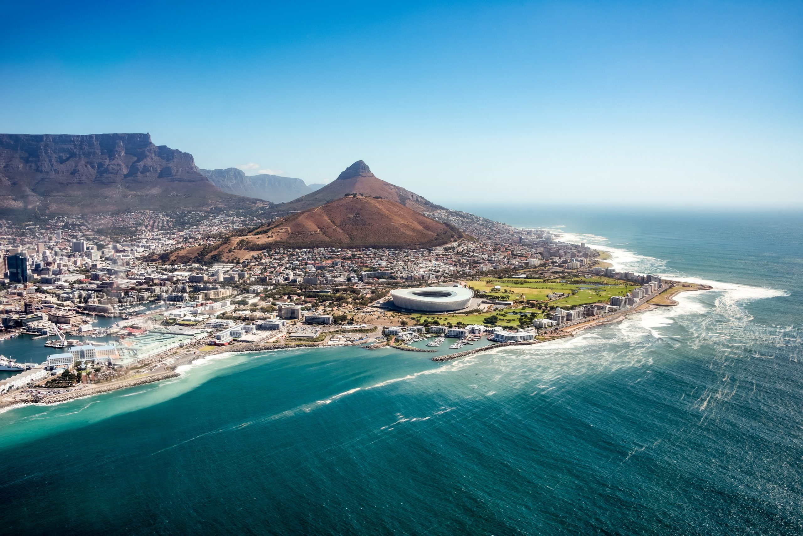 Aerial view of Capetown, SOuth Africa