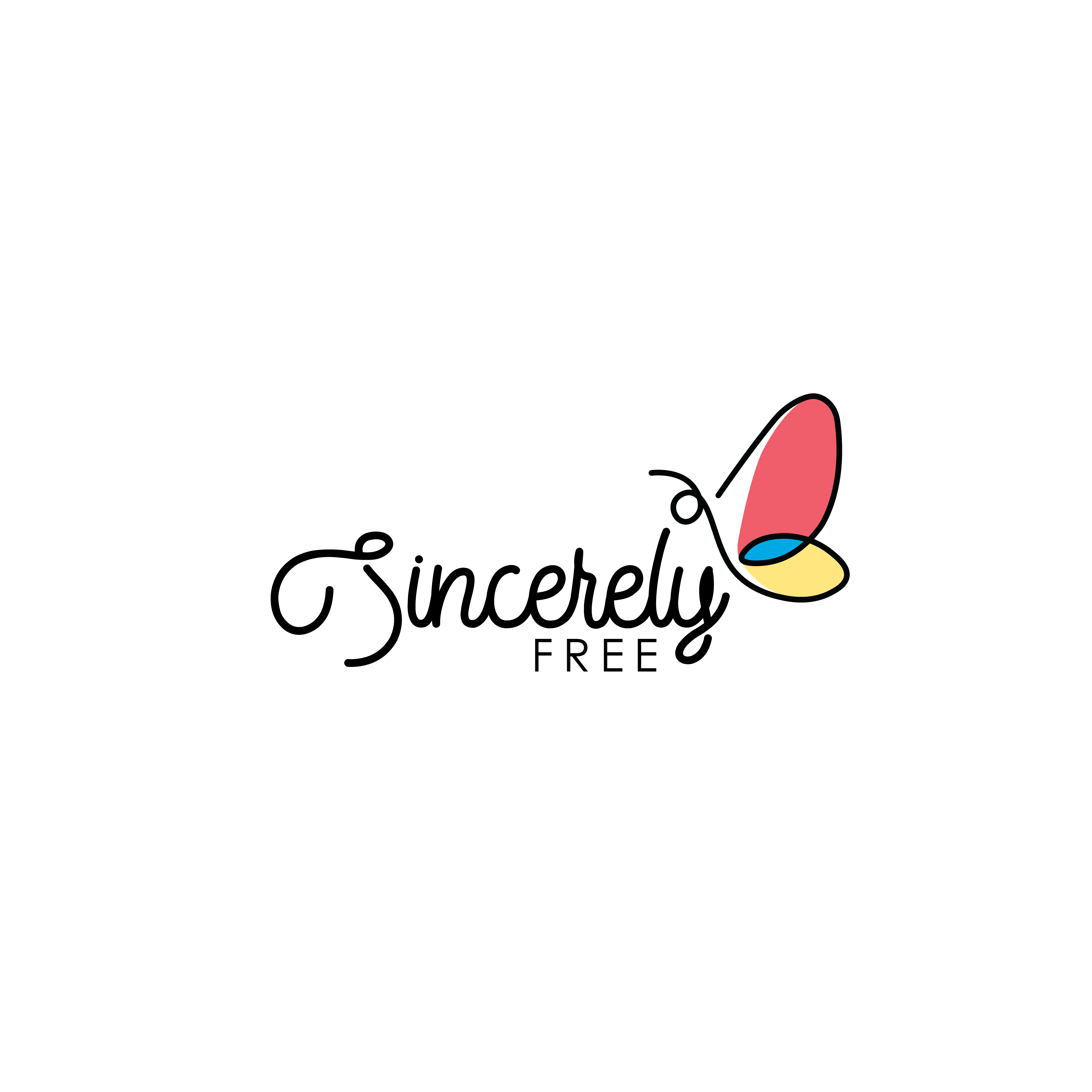 Sincerely Free Logo White Background