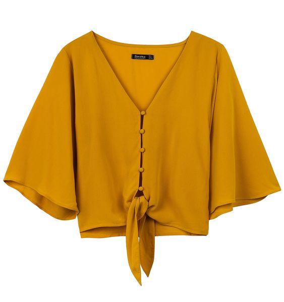 blusa naranja bonita