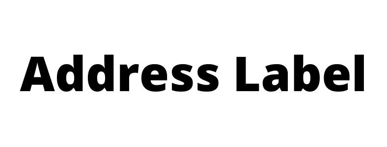Address Lable